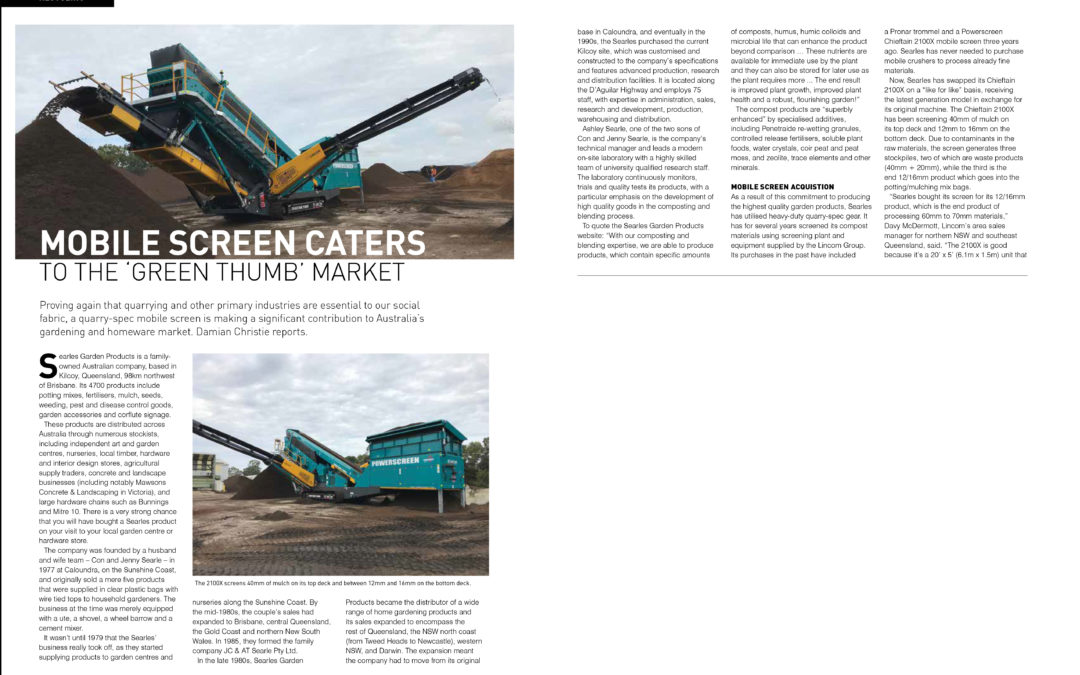 Featured article in Quarry Magazine Issue July 2019